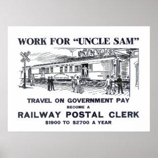 Railway Postal Clerk Print 1926