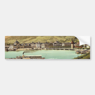Railway station and Pilatus Lucerne Switzerland Bumper Stickers