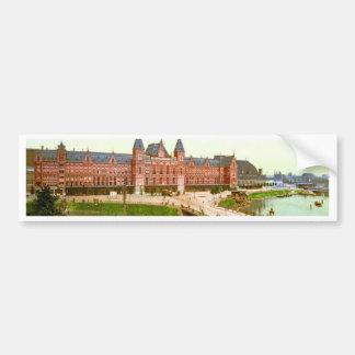 railway station photochrom central bumper sticker