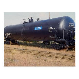 Railway tank car, Nova Scotia, Canada Postcard