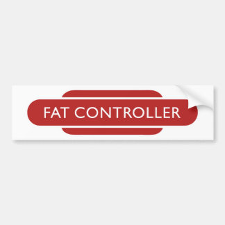 Railway Totem Fat Controller Red Hiking Duck Bumper Sticker