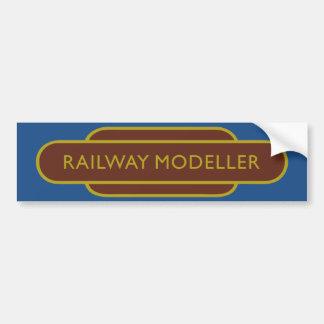 Railway Totem Railway Modeller Brown Hiking Duck Bumper Sticker