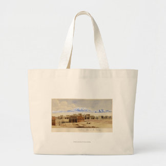 Railway Town on the Prairie Large Tote Bag