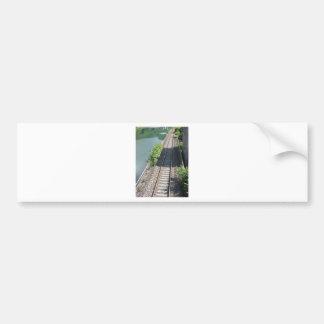 Railway tracks along the river bumper sticker