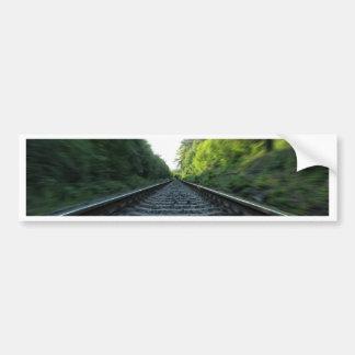 Railway Tracks Bumper Sticker