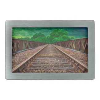 Railway Tracks Rectangular Belt Buckles