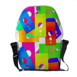 Raimbow Color Shapes Rickshaw Messenger Bag