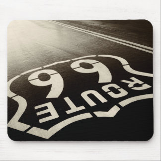 Rain and Route 66 Mouse Pad