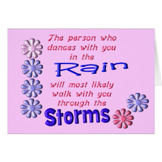 Rain and Storms Card