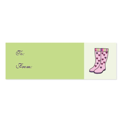 Rain Boots Gift Tag Business Card Template