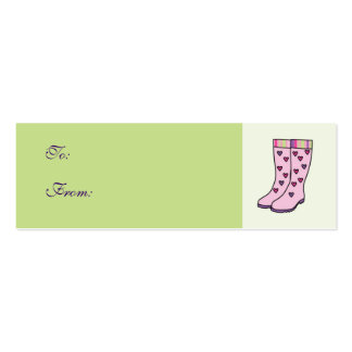Rain Boots Gift Tag Pack Of Skinny Business Cards