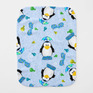 Rain Boots Penguin Burp Cloth