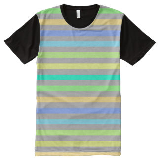 Rain Bow & Gray American Apparel Buy Online Sale All-Over Print T-Shirt