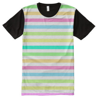 Rain Bow & White American Apparel Buy Online Sale All-Over Print T-Shirt