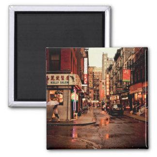 Rain - Chinatown - New York City Magnet