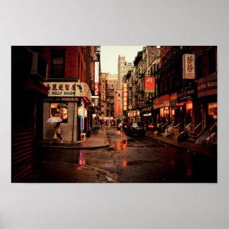 Rain - Chinatown - New York City Poster