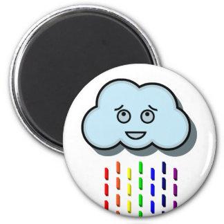 Rain Cloud 6 Cm Round Magnet