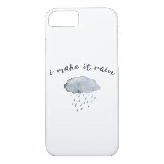 "Rain Cloud Art with Quote ""I Make It Rain"" iPhone 8/7 Case"