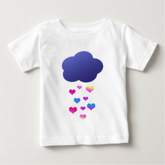 Rain Cloud & Falling Hearts Baby T-Shirt