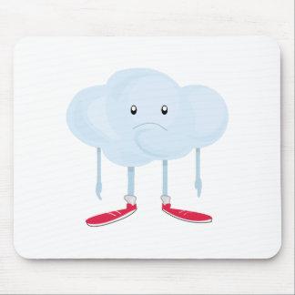 Rain Cloud Person Mouse Pad