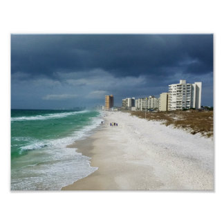 Rain Clouds over Panama City Beach, Florida Poster