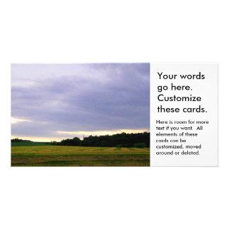 Rain clouds weather over Minnesota farm fields Photo Card