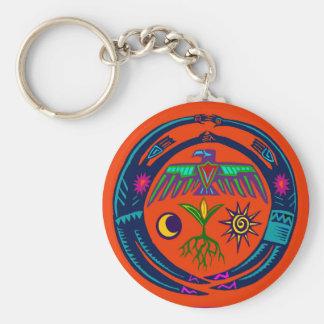 Rain Dance Basic Round Button Key Ring