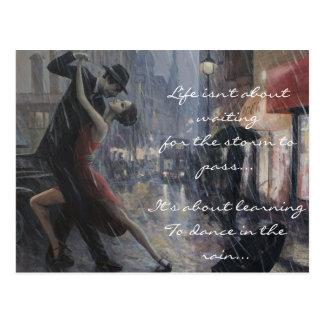 Rain Dance Postcard