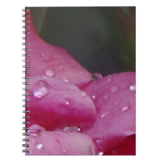 Rain Drop Flower Spiral Notebook