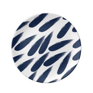 Rain Drops Abstract Decorative Porcelain Plate