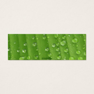 rain drops mini business card
