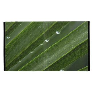 Rain Drops on Palm Frond iPad Folio iPad Folio Case