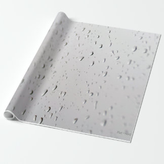 rain-drops on wrapping paper