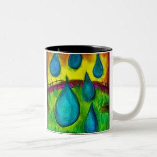 Rain Drops Two-Tone Coffee Mug