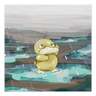 Rain Duck Poster