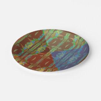 Rain Forest Cones5 Paper Plate