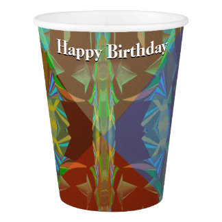 Rain Forest Cones5 with Your Text Paper Cup