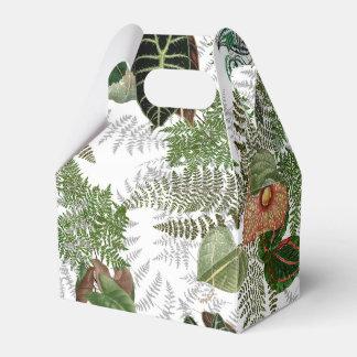 Rain Forest Ferns Leaves Flowers Favor Box
