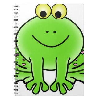 Rain forest Green Frog Spiral Notebook
