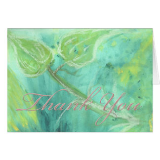 Rain Forest Haze Champagne Thank You Card