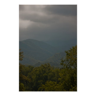 """Rain in the Smoky Mountains"" Poster"