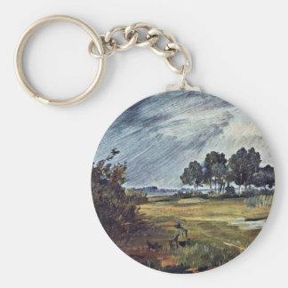 Rain Landscape By Busch Wilhelm (Best Quality) Key Chain