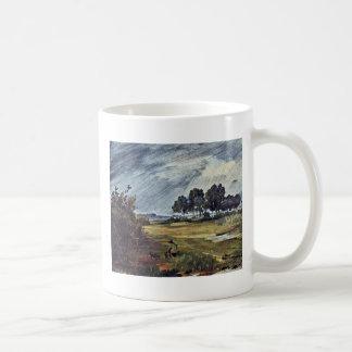 Rain Landscape By Busch Wilhelm (Best Quality) Coffee Mugs