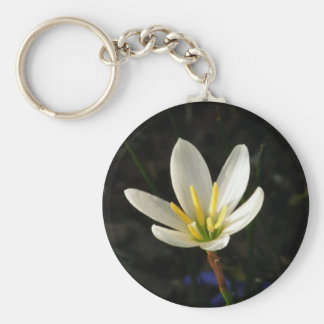 Rain Lily Basic Round Button Key Ring