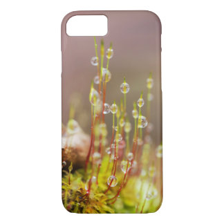 Rain Moss Phone Case, Macro Nature Photography iPhone 8/7 Case