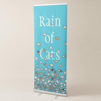 Rain of Cats Blue Custom text Retractable Banner