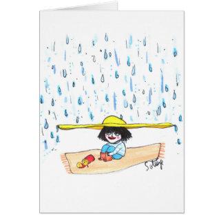 Rain Oh Rain - Childhood Card