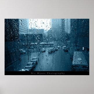 Rain on Window Poster