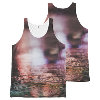 Rain Pattern All-Over Printed Unisex Tank All-Over Print Tank Top