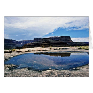 Rain Pool - Canyonlands National Park Greeting Card